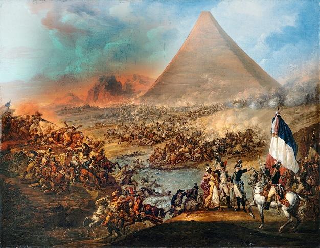 Cuadro que representaría la Batalla de las Pirámides, en 1798