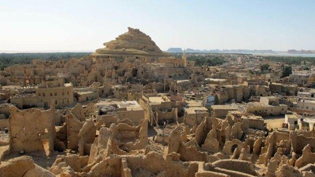 Estado actual de la ciudad de Siwa, situada al lado del oasis del mismo nombre