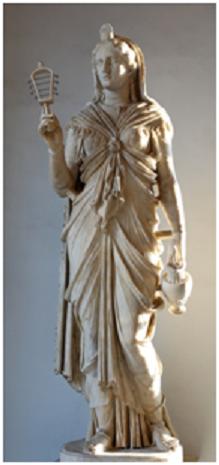Estatua de Isis romanizada hallada en la Villa Adriana