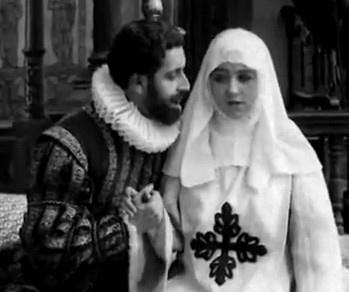 Fotograma de la primera versión cinematográfica de Don Juan Tenorio (1922)