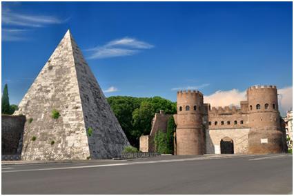 Pirámide de Cayo Cestio, en Roma