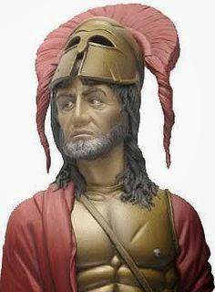 Reconstrucción histórica de cómo habría sido Agesilao II de Esparta