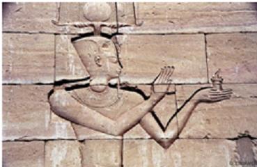 Representación del primer emperador romano, Augusto, en el templo de Kalabsha
