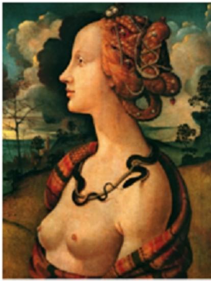 Simonetta Vespucci como Cleopatra, cuadro de Cossimo Piero