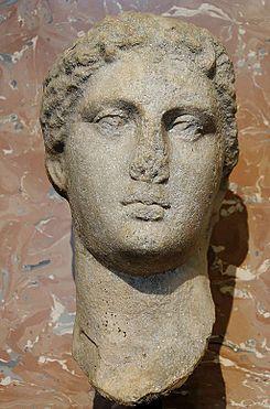 Busto de Arsínoe II, hermana y esposa del rey Ptolomeo II