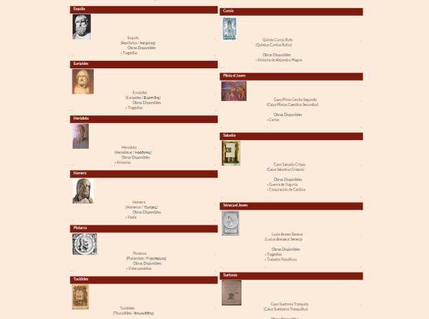 Captura de pantalla de una de las secciones de esta gran web