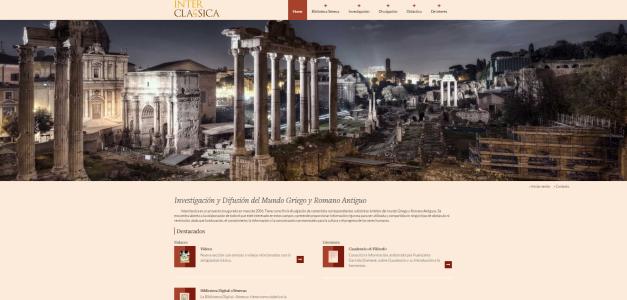 Captura de pantalla general de esta gran web de divulgación grecorromana