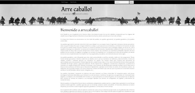 Captura de pantalla general de esta gran web de Historia militar de la caballería