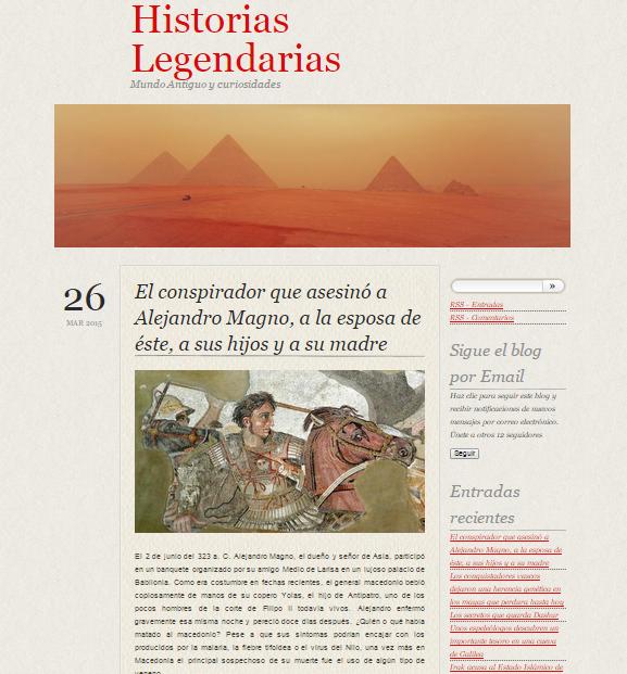Captura de pantalla general de este gran blog de Historia y curiosidades