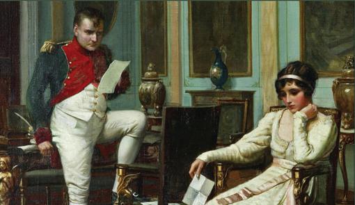 Cuadro que representa a Napoleón junto a su esposa Josefina