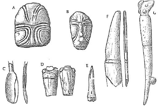 Ejemplos de algunos objetos materiales mesolíticos