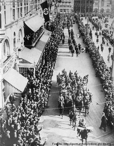Fotografía histórica que muestra la ocupación alemana de Renania