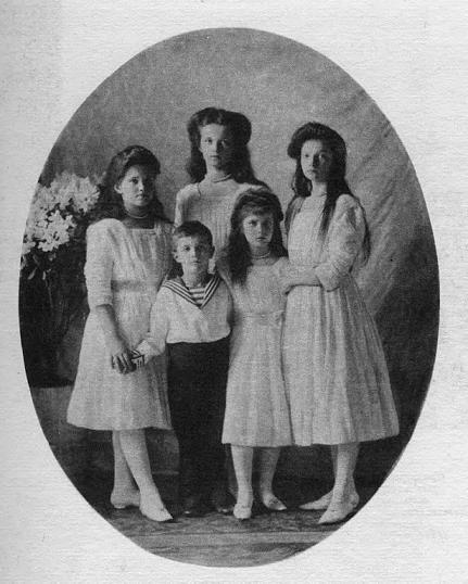 Hijos de Nicolás II y Alejandra Feodorovna