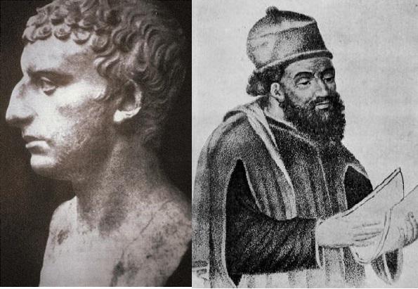 A la izquierda, Jose Flavio; a la derecha, Diodoro Sículo