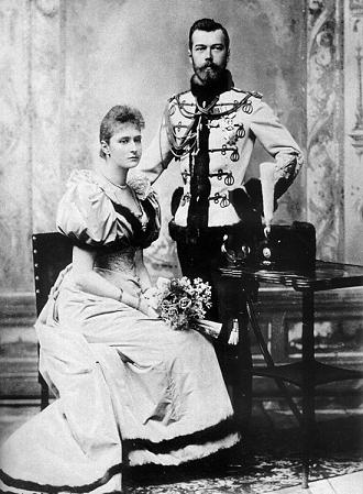 Nicolás II y Alejandra Feodorovna, últimos zar y zarina de la dinastía Romanov