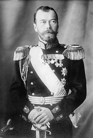 Fotografía antigua del Zar Nicolás II, el último de la dinastía Romanov