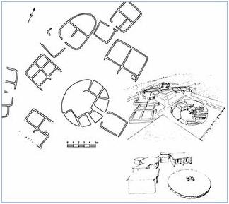 Plano del yacimiento de Mallaha