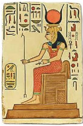 Relieve en el que se muestra a la diosa Hathor