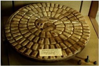 Tablero de juego conservado del mehen