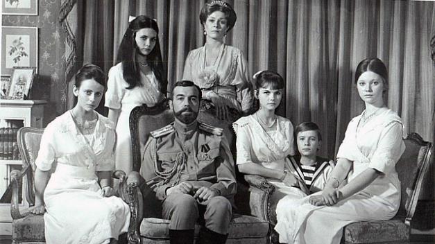 Una de las fotografías más tardías de la familia de Nicolás II
