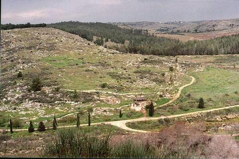 Vista del valle del Wadi
