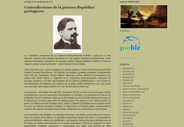 Captura de pantalla de uno de los artículos de este gran blog de historias de la Historia