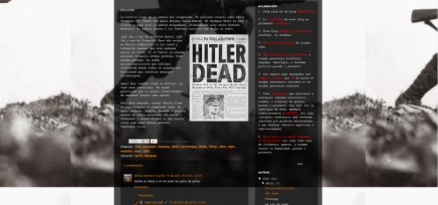 Captura de pantalla de uno de los artículos de este gran blog literario