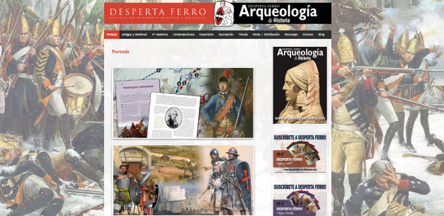Captura de pantalla general de esta gran web de la revista de Historia militar