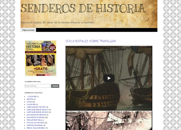 Captura de pantalla general de este gran blog de Historia de España