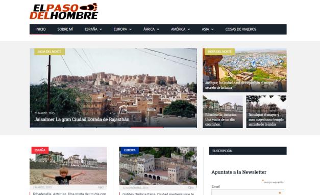 Captura de pantalla general de este gran blog de viajes por el mundo