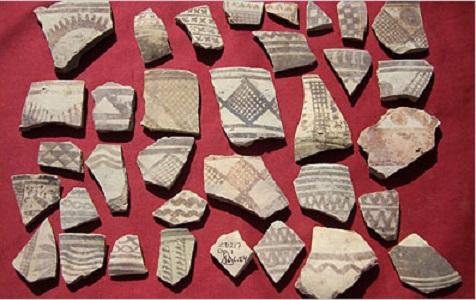 Colección de piezas de cerámica del periodo de Ubaid
