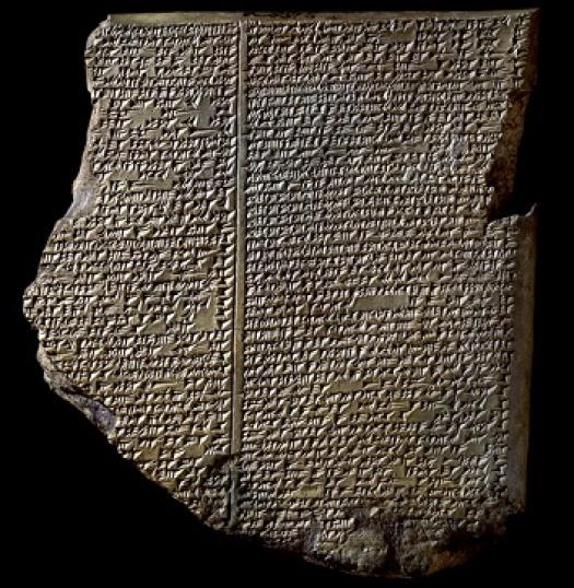 Tabla del Diluvio, en el que se encuentra parte de la Epopeya de Gilgamesh