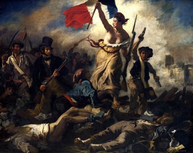 La libertad guiando al pueblo es probablemente el cuadro más famoso de Delacroix