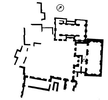 Planta que muestra la planta de los tres santuarios más recientes de Tepe Gawra, a finales del Ubaid IV