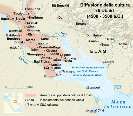 Principales asentamientos humanos durante el Periodo de Ubaid