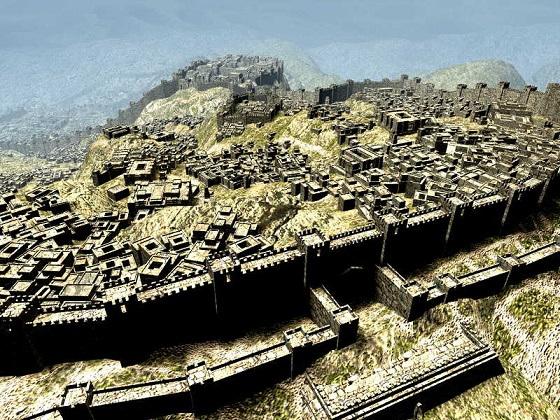 Reconstrucción de cómo debió ser Hattusas, la capital de los hititas