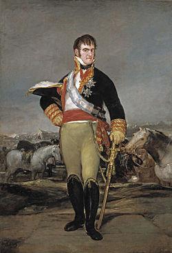 Retrato hecho por Goya del rey absolutista español Fernando VII