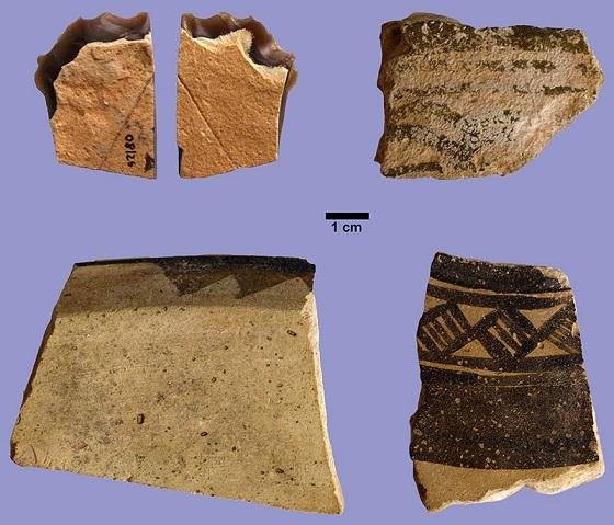Trozos de cerámica del estilo Ubaid