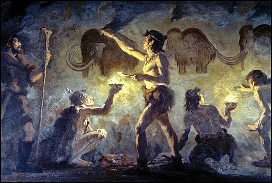 Imagen 2 - Cromañones pintando una caverna