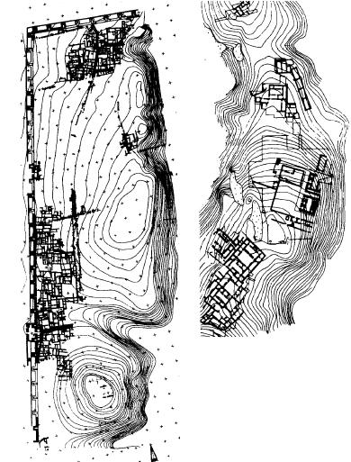 A la izquierda, el yacimiento de Habuba Kebira, a la derecha, el de Yébel Aruda