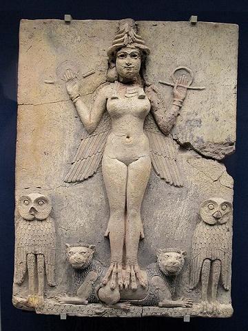 Altorrelieve en el que se representa a la diosa Ishtar