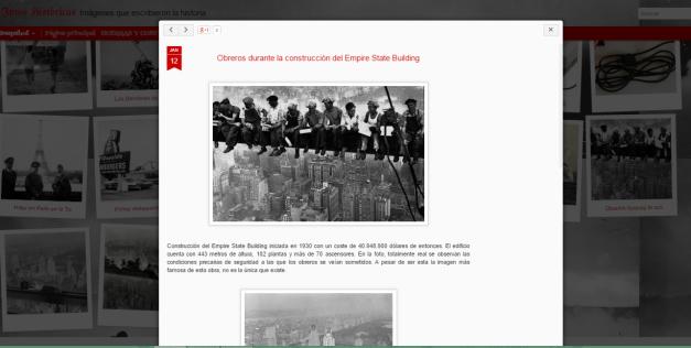 Captura de pantalla de uno de las fotografías de este gran blog