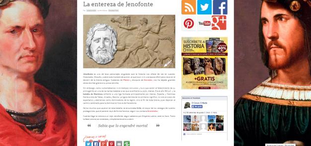 Captura de pantalla de uno de los artículos de esta gran web de curiosidades de la Historia