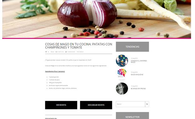 Captura de pantalla de uno de los artículos de esta nueva revista digital de cultura