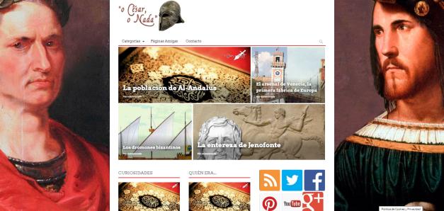 Captura de pantalla general de esta gran web de curiosidades de la Historia