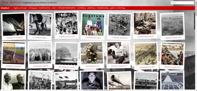 Captura de pantalla general de este gran blog de fotografías históricas
