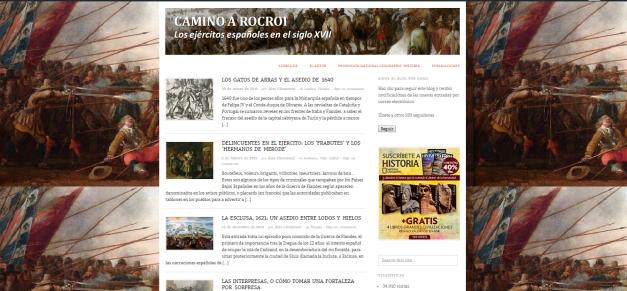 Captura de pantalla general de este gran blog de Historia militar española