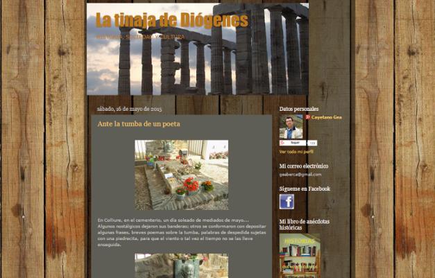 Captura de pantalla general de este gran blog de Historia y cultura