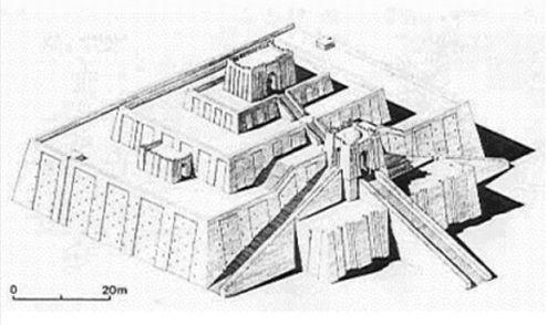Ejemplo de zigurat mesopotámico