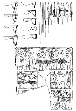 Ejemplos de la cultura material mesopotámica protodinástica